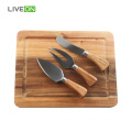 Wooden Cheese Cutting Board and Knife Set