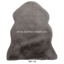 Faux Rabbit Plain or mixed color Shaggy Carpet