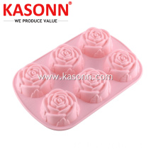 6 Tassen Medium Rose Silikon Brot Muffinform