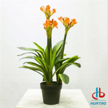 Artificial orange flower potted plant
