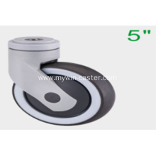 5 Inch Hollow Rivet Swivel TPR PP Material Medical Caster