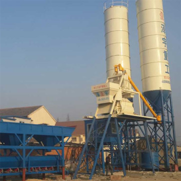 HZS75 stationary type modular concrete batching plant