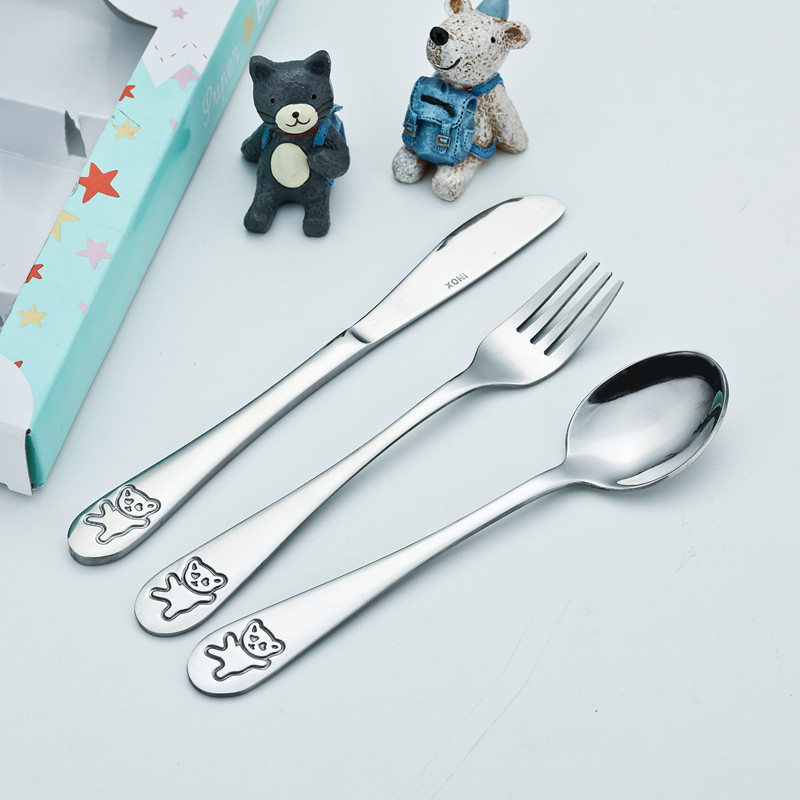 High-End Stainless Steel Children Tableware