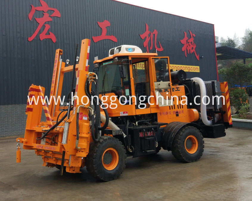 Highway Guardrail Installation Machine