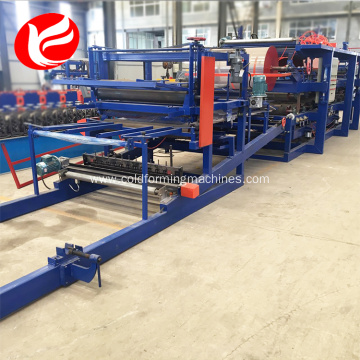 Color steel eps sandwich panel compounding machine