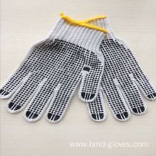 Good Quality PVC Black Dotted Gloves