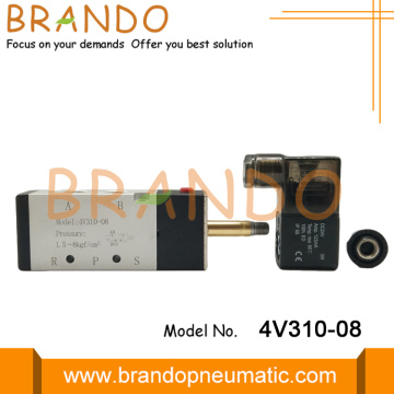 4V310-08 1/4'' Internally Pilot Single Solenoid Valve
