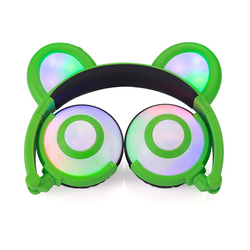 Cheap Cute Glowing Headset Over Ear Wired Headphone