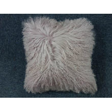 "16"" x 16"" Tibetan Lamb Fur Pillow Single Sided Fur"