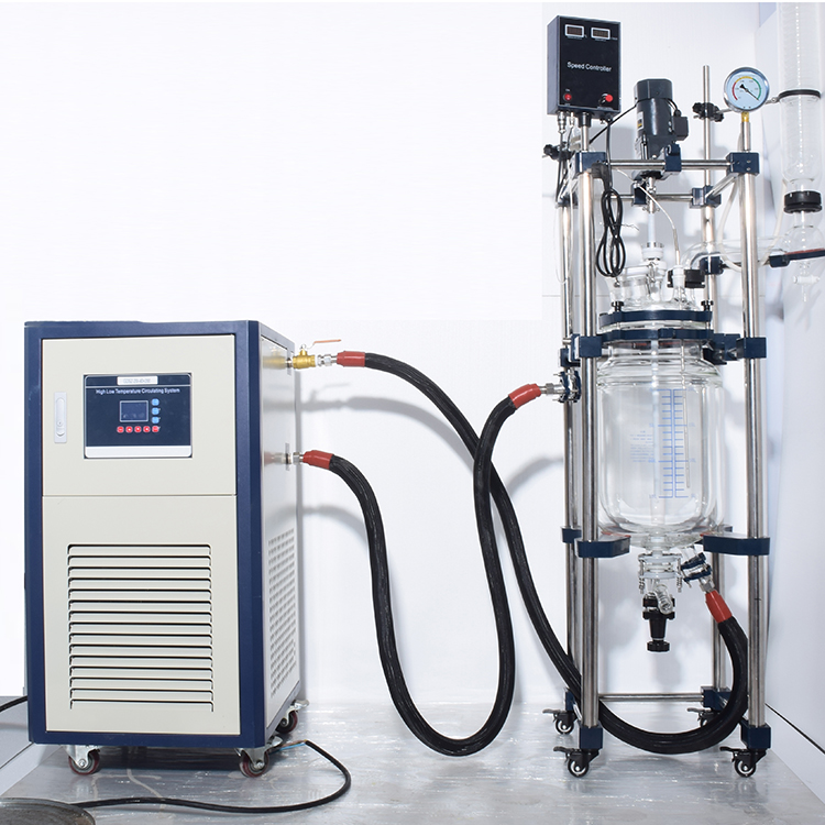 jacket heating glass reactor