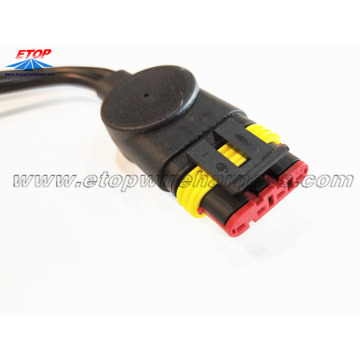 cable molded with 282087-1 connector