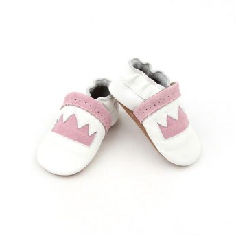 Soft Pink Leather Baby Shoes