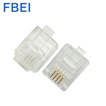 RJ11 gold plated 3U  connector