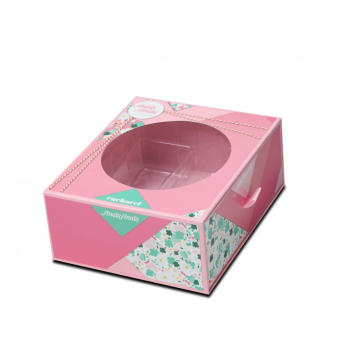 U Shaped Pink Drawer Box With Round Window