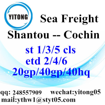 Shantou Logistics Services to Cochin
