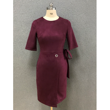 women's wine fashion dress