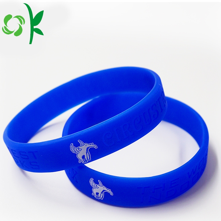 Deep Bule Silicone Engraved Wristbands 23