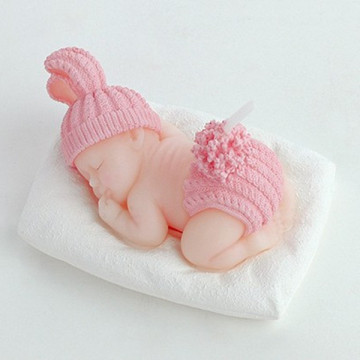 Cute Sleeping Baby Candle For Birthday Souvenirs Gift