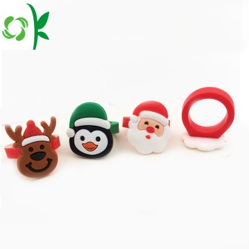 New Santa Claus Silicone Ring Christmas-gift Reindeer Rings