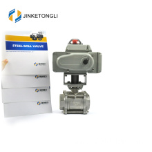 JKTLEB003 electric actuated cf8m stainless steel ball valve