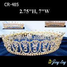 Gold Plated Full Round King Pageant Crown