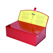 Red Book Shape Box With Glossy Lamination