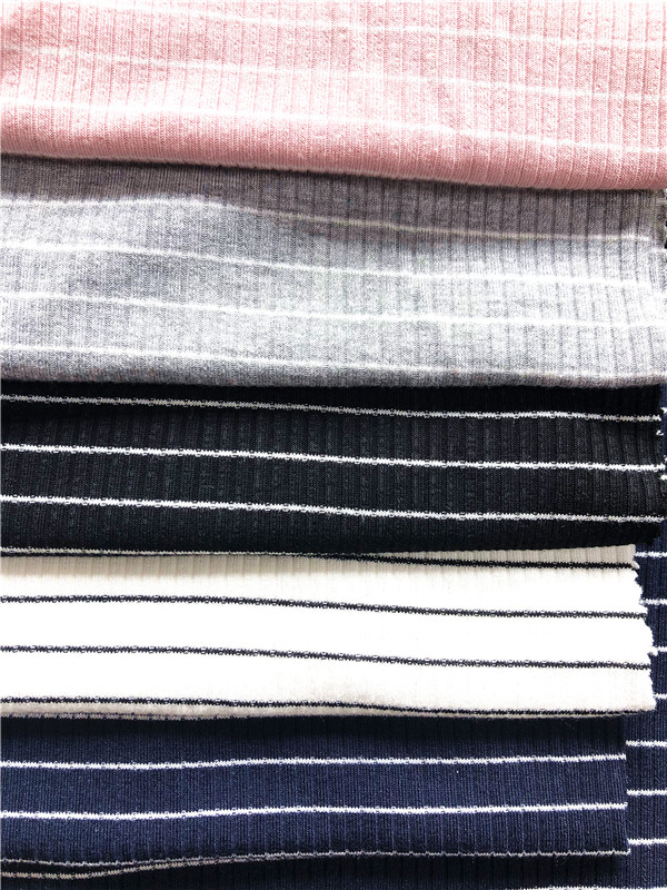 Stripe Rayon Jersey Stretch Fabric