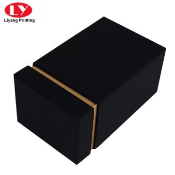 Black 30ml cardboard perfume box with foam insert