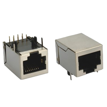 RJ45 10P8C connector WITH SHIELD WITHOUT EMI