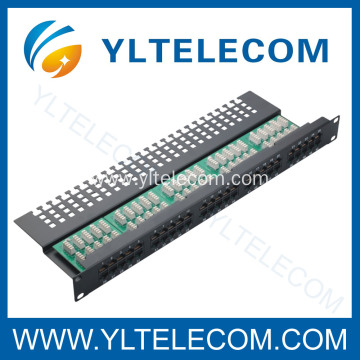 Cat.3 Voice Patch Panel 50port