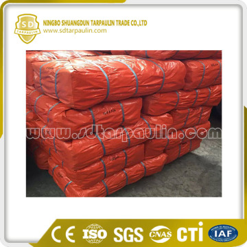 Orange Pe Tarpaulin Packed In Rolls