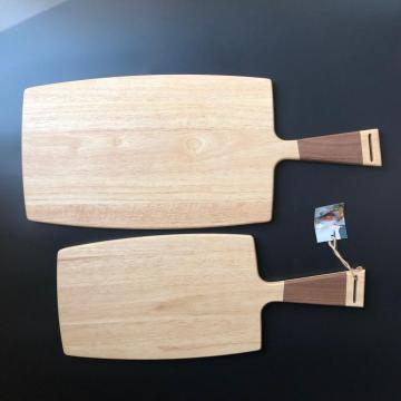 Rubber wood paddle cutting board