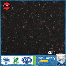 Faux fake spray paint black granite look