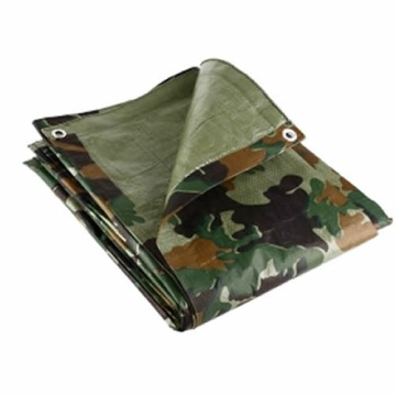 Camouflage PE tarpaulin Fabric Light Weight