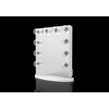 Square frame LED lights acrylic makeup mirror