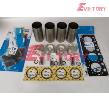 excavator D12D engine gasket bearing piston ring liner