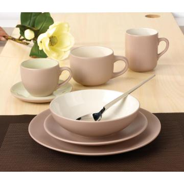 Lovely korea tableware matt color dinner sets