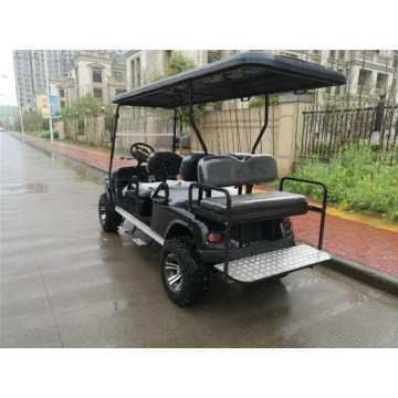 6 passengers used black 4wd golf cart for sale