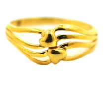 ODM for China K Gold Ring,18 K Gold Ring,Yellow Gold Ring Supplier Bonded Love Heart Shaped Figure Ring supply to Costa Rica Suppliers