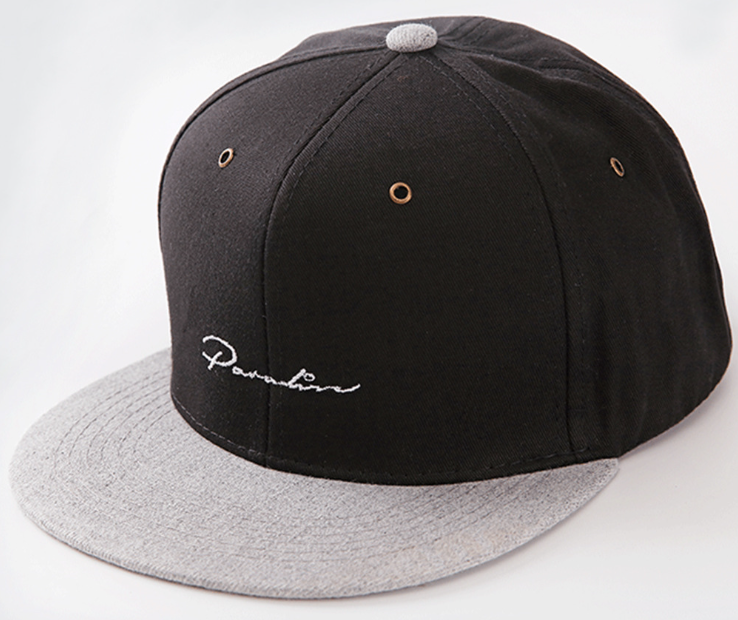 Embroidery Hip Hop Cap Black