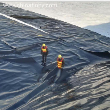 2mm Black HDPE Geomembrane Fish Farm Pond Liner