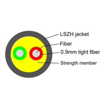 Leading for White Fiber Drop Cable FTTA CPRI cable LSZH jacket supply to Croatia (local name: Hrvatska) Suppliers