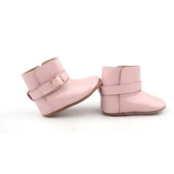 Pink Leather Kids Boots winter Baby Shoes