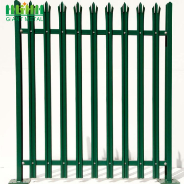 Steel Palisade Pyramid Fence Panel