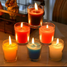 Fragrance Oils Colorful Transparent Clear Glass Jar Candle