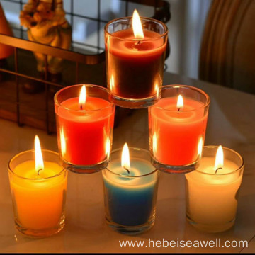 Fragrance Oils Colorful Candles In Transparent Clear Glass Jar
