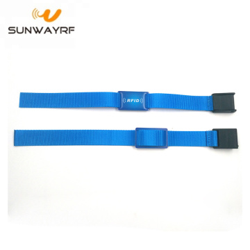 125khz Fabric Rfid Festival Wristbands Bracelet with Dome