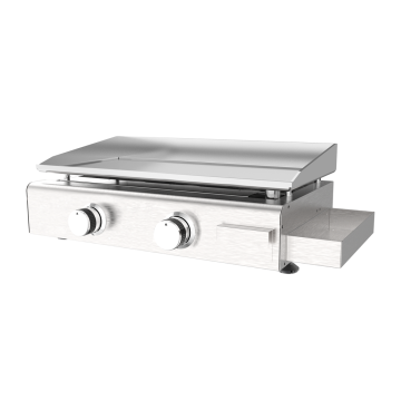 Two Burner Stainless Steel Gas Plancha