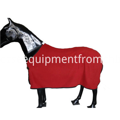 red polar fleece horse rug