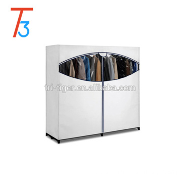 2 Door Assemble Fabric Portable Wardrobe